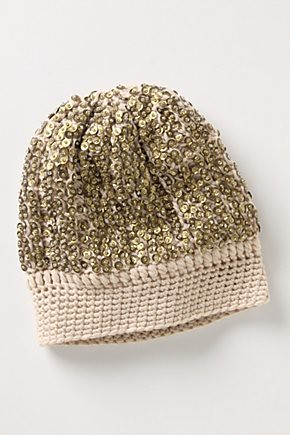 anthro sequin beanie