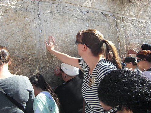 Touching the Western Wall