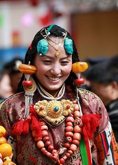 Ceremonail Costume at 6th Khampa art festival (BetterWorld2010) Tags: fa