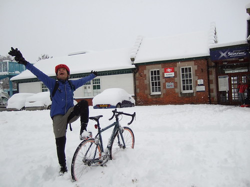 Wintercycling Dunblane to Callander