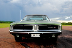(MoStuff Sthlm) Tags: green 1969 drag se metallic racing strip dodge medium mopar 69 sthlm f5 440 charger dragway orsa mopars mostuff tallhed