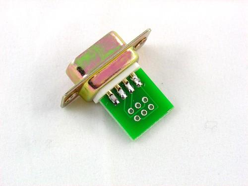 DB9 soldered - bottom