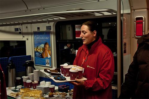 Verkauf von Kaffee und Kuchen