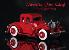 Riverside Fire Chief by V&A Steamworks (V&A Steamworks) Tags: red ford fire 1930s lego chief anderson va thunderbirds steamworks supercar gerry steampunk moc