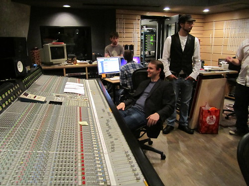 Matt Quarterman at the SSL console. The ear-to-ear grin is from watching John work through the class.