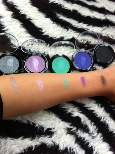 MUA cosmetics, MUA cosmetics uk, MUA cosmetics swatches, MUA eyeshadows