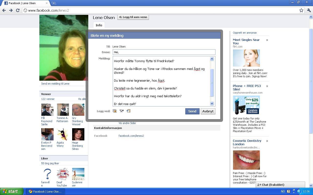 ny facebook melding lene