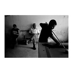 . (Emmanuel Smague) Tags: leica travel boy people blackandwhite bw men film beer bar 35mm photography kid europe child islam report documentary kosovo billiards mp muslims balkans albanians emmanuelsmague