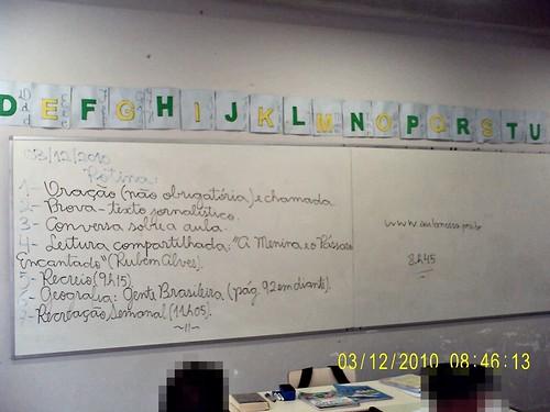 Rotina prevista e cumprida (03/12/2010).
