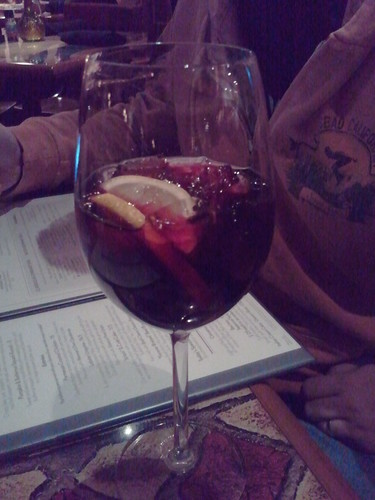 Yummy blackberry Sangria!