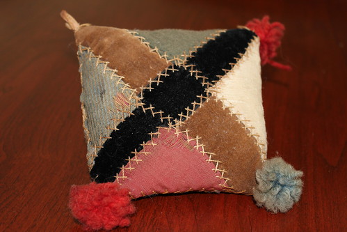 Antique Pin Cushion Crazy Patch Quilt