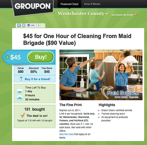 Groupon Offer For Maid Brigade