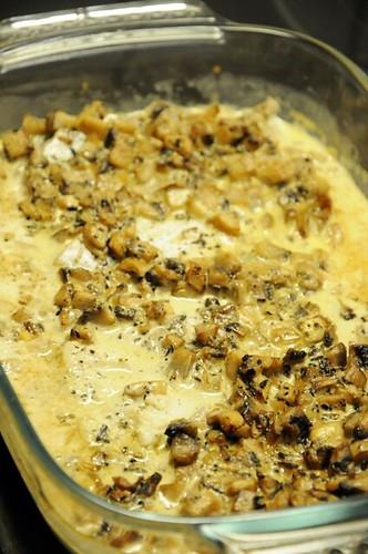 mushroom-fish-gratin