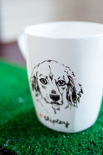 shipley dog mug with astroturf