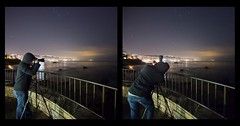 photographer at work (Eric 5D Mark III) Tags: ocean california city light portrait sky people cloud seascape reflection night canon fence landscape star photographer backside orangecounty lagunabeach highiso 6400 ef14mmf28liiusm eos5dmarkii