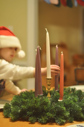 right now :: advent candles