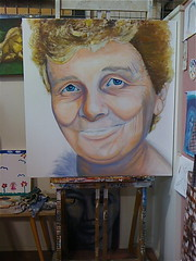Mum (partB) - W.I.P - by Kylie Fowler (Kylie Fowler AKA: Blissful Pumpkin) Tags: family portrait people woman girl face closeup lady female portraits painting bigeyes artwork eyes paint artist acrylic close kylie head handmade mixedmedia blueeyes workinprogress wip canvas mum coloured paintbrush gesso fowler whimsical kyles realism howtodraw onmyblog largeportrait palateknife smiliepumpkin pepyat blissfulpumkin kyliefowler kyliepepyat kyliepepyatfowler blissfulpumpkin httpblissfulpumpkinblogspotcom kyliefowlercom howtopaintbigeyedgirlskyliepepyatkyliepepyatfowler