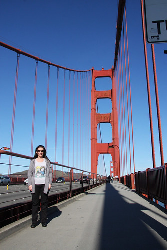 Marga on the Golden Gate Bridge