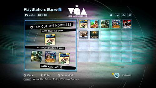 PlayStation Store - VGA Storefront