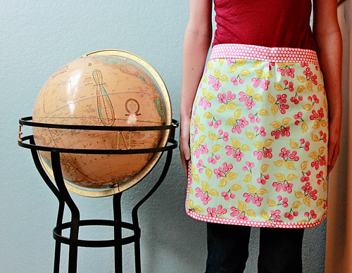 Cherry Apron - reversable