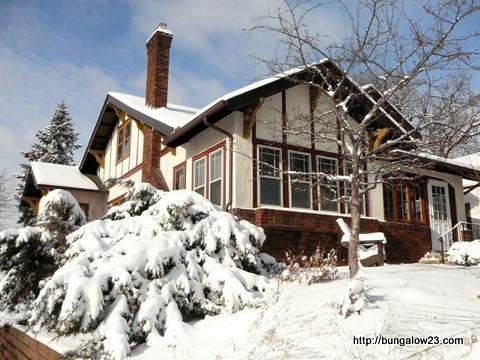 Exterior in snow