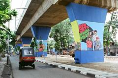 Tanam Pohon (firdaus usman) Tags: film analog indonesia graffiti automobile expired nikonf kereta 2010 bajaj rel fujisuperia200 sunny16 juanda nikkor35mmf2ai penghijauan kebersihan pemerintah kesehatan dibawah publicspot himbauan