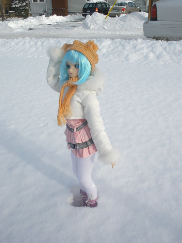 Umi in the snow