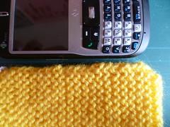 Capa de tricô para celular