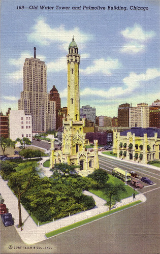Old Water Tower and Palmolive Building, Chicago [169]