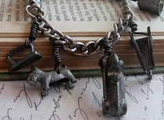 Vintage Monopoly Game Piece Bracelet