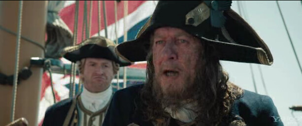 barbossa on Pirates of the Caribbean: On Stranger Tides