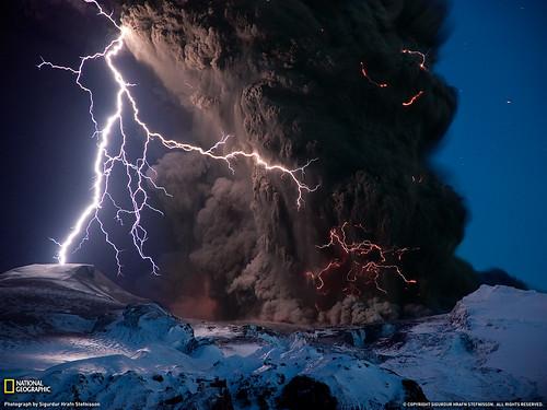 iceland volcano lightning wallpaper. icelandic volcano