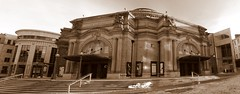 Usher Hall, Edinburgh (Vic Sharp) Tags: uk panorama sepia mono scotland nikon edinburgh britain stage scottish gb stitched showbiz d80 johnsharp sharpy70