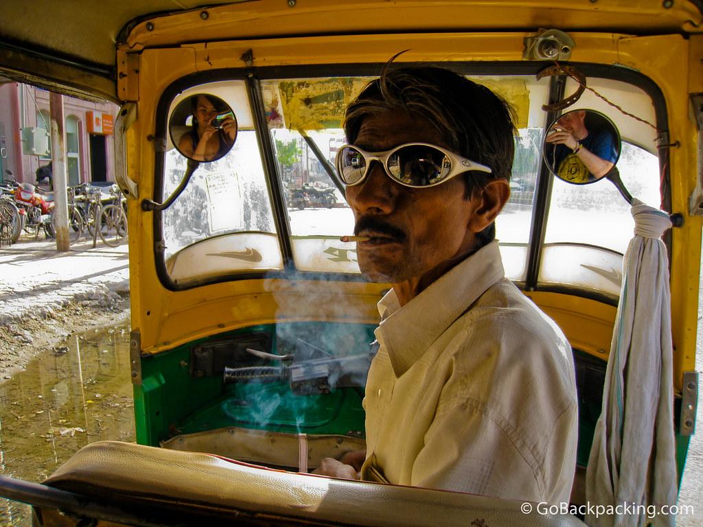 India's coolest tuk-tuk driver