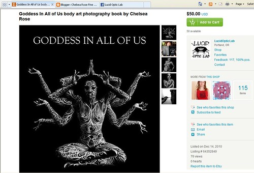 Goddess In All Of Us art book sale