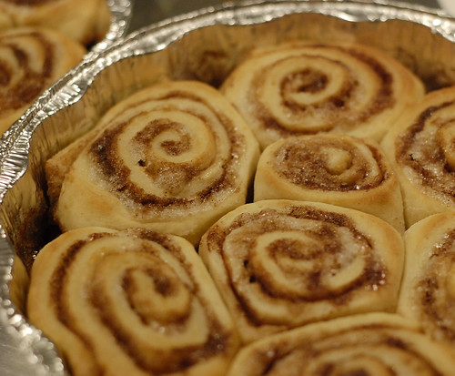 making cinnamon rolls