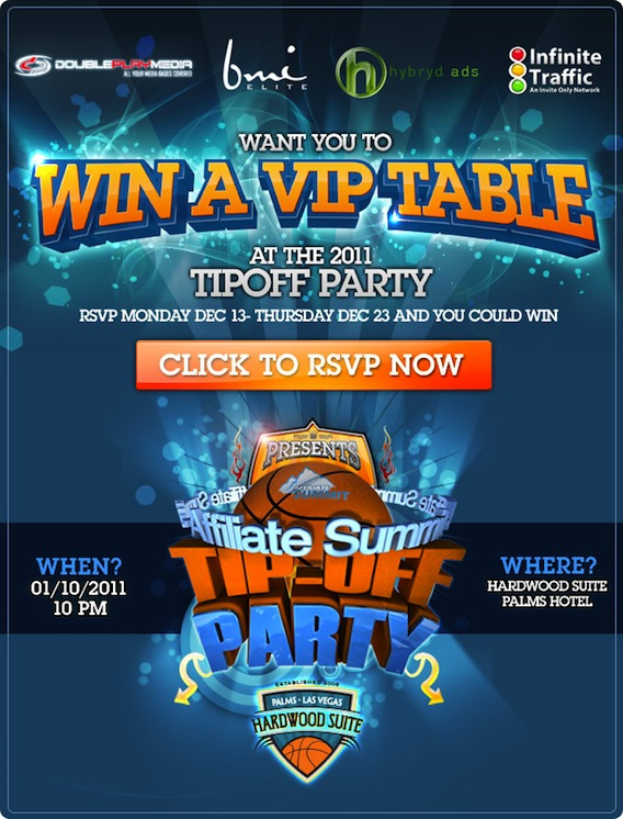 Win a VIP Table at the 2011 TIPOFF Party!