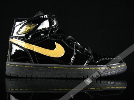 Air Jordan 1 I Retro Patent Leather Black Metallic Gold