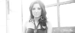 Sunlight, black & white. ({st8ton}) Tags: woman sunlight girl lady hair eyes nikon wide greenhouse fade backlit brunette
