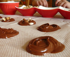 another yummy & easy activity (Cozy Memories) Tags: eat easy activity mendiants basicallychocolateabitofbutter addchoppednutsontop gneltypress letthemcool