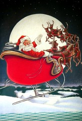 The Night Before Christmas (arrow734) Tags: santa christmas moon raindeer santassleigh thenightbeforechristmas themered arrow734 525of2010
