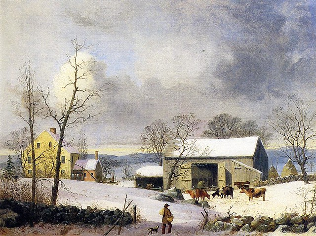 Winter in the Country, Farmyard 1858