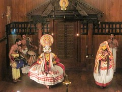 Kutiyattam, Performing Art of Kerala (gerpower) Tags: show travel music india art drums stage kerala backpacking fortkochin kutiyattam