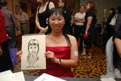 Caricature live sketching for Swiss Precision Dinner & Dance 2010 - 8