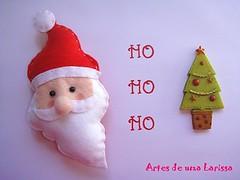Papai Noel (Artes de uma Larissa) Tags: natal feitomo noel feltro papainoel