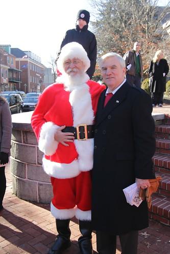 Santa Poses with Colin Hannah