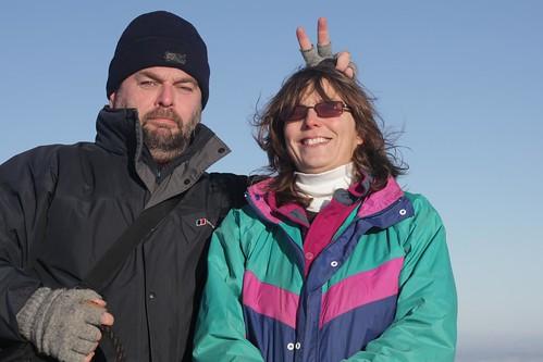 Carolyn and me on top of Moel Famau