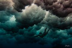 (SARAΗ LEE) Tags: ocean white water girl clouds hawaii duck waves moody underwater dive bigisland therock pinetrees kona whitewash duckdive waterhousing sarahlee legothenego kobetich miyana kohanaiki surfhousing miyanat vivantvie