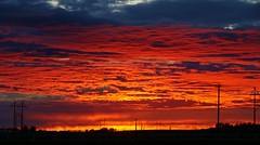 just another Idaho sunset (spysgrandson) Tags: sunset sony idaho redsky sonycybershot redskyatnight skyonfire brilliantcolors firesky goldensky 061110 spysgrandson