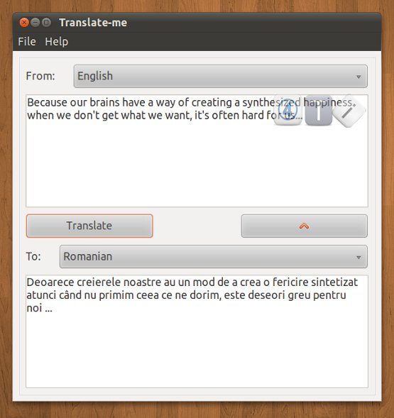 Program de traducere din engleza in limba romana